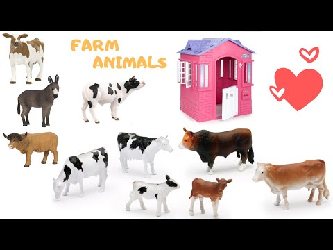 Farm Animals Toys Singing Learning for Kids with Elephant and Giraffe