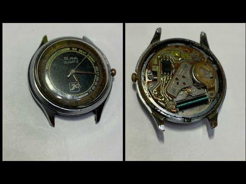 Ремонт часов слава кварц сделано в СССР.
