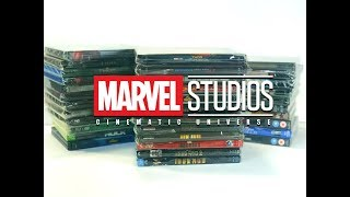 Marvel Cinematic Universe Blu Ray DVD Collection