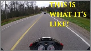First Time Riding a Motoŗcycle on the Road