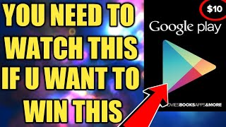 YOU NEED TO WATCH THIS VIDEO..IF YOU WANT TO WIN THE GOOGLE PLAY GIFT CARD GIVEAWAY! FREE CREDITS!