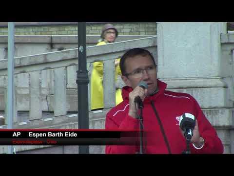Eidsvolls plass 5 sept 2017  -AP  Espen Barth Eide