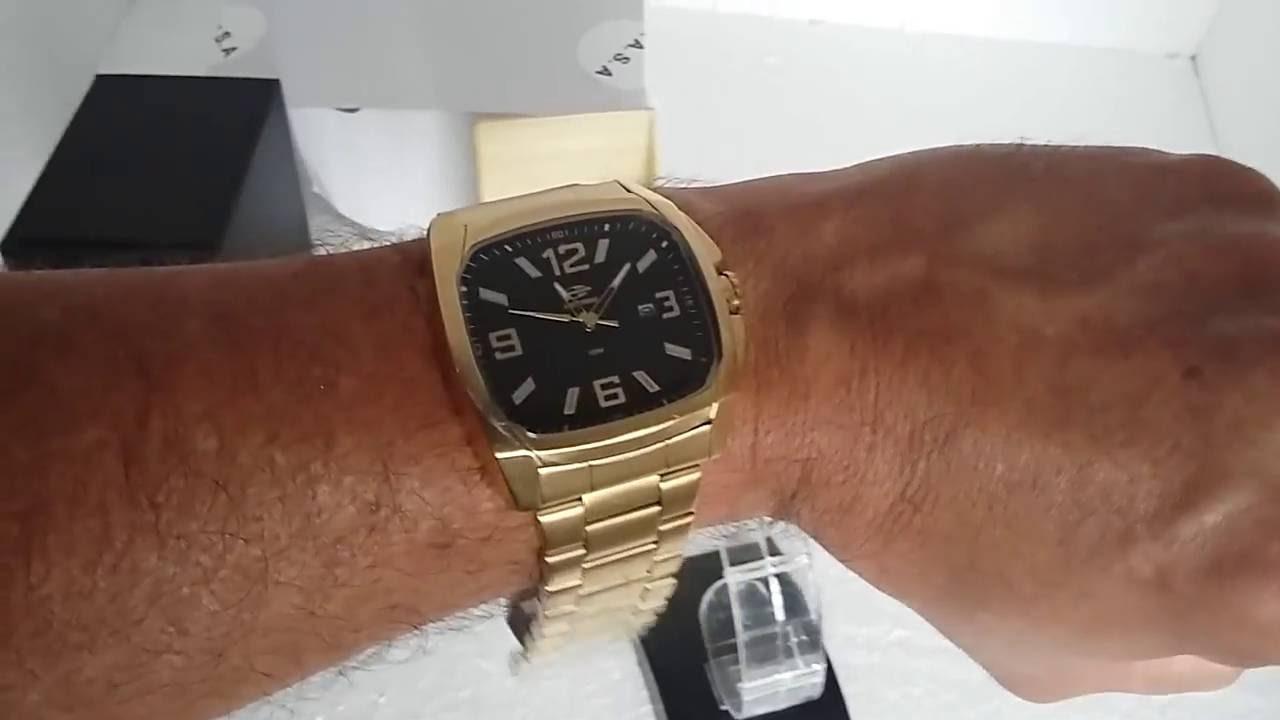 dd1fa81b8e48e Relógio Mormaii MO2315ZG 4P Analógico Masculino - YouTube
