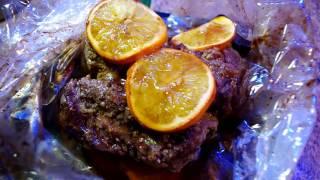 Говядина с апельсинами для новогоднего стола