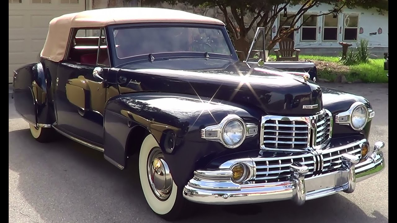1947 And 1948 Lincoln Continental Youtube