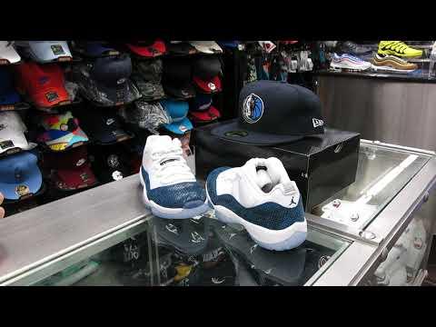 Nike Air Jordan 11 Low, Navy Snakeskin - at Street Gear, Hempstead NY
