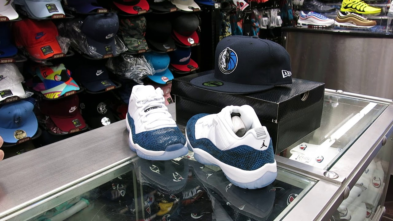 official photos e4dfb 6646e Nike Air Jordan 11 Low, Navy Snakeskin - at Street Gear, Hempstead NY