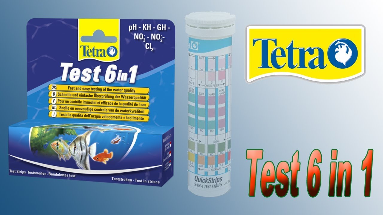 tetra test 6 in 1 cl2 ph kh gh no2 no3 youtube. Black Bedroom Furniture Sets. Home Design Ideas