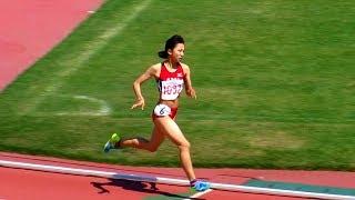 昨年 全中800m優勝の上田万葵選手(舟入)と1500m優勝の樫原沙紀選手...