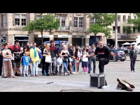 Street performer in Amsterdam