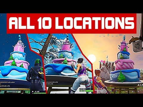Fortnite All 10 Birthday Cake Locations