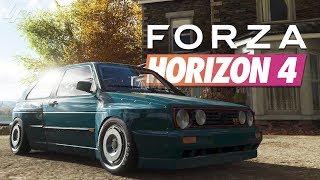 FORZA HORIZON 4 Part 3 - Golf 2 Rocketbunny & Chaos?! | Lets Play