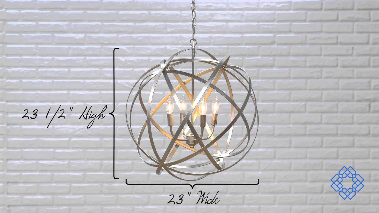 capital lighting axis four light pendant youtube