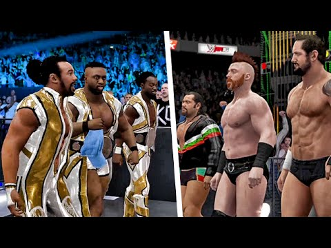 The New Day Vs League Of Nations In Wwe 2k16 Youtube