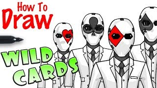 How to Draw Wild Card Masks | Fortnite