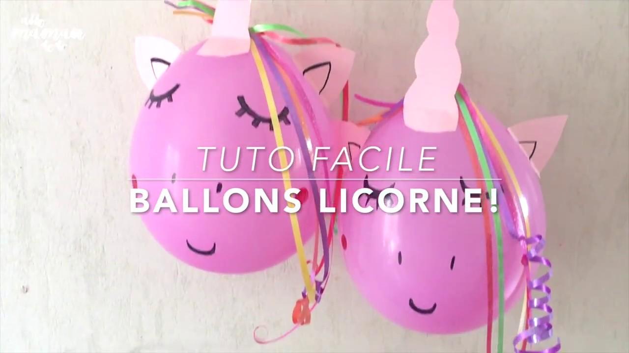 Tuto Express Déco Danniversaire Le Ballon Licorne Unicorn Balloon