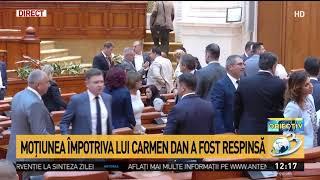 Moţiunea împotriva lui Carmen Dan a fost respinsă