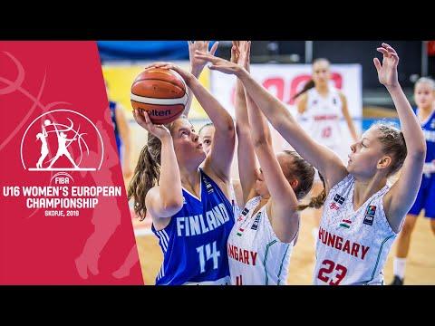 Hungary V Finland - Full Game - FIBA U16 Women's European Championship 2019