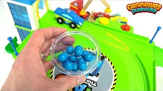 Learn Colors with Toy Cars and Wooden Lifting Truck!