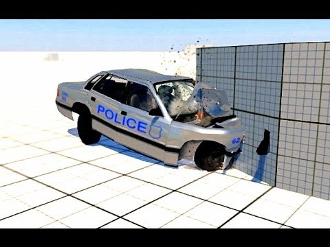 Police Car Crash Test Simulador De Accidentes Auto