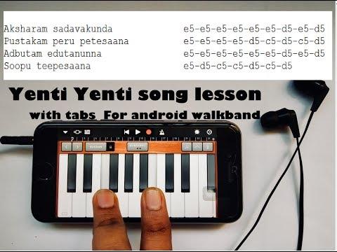 Yenti Yenti song -Geeta Govindam Tutorial with drums WALKBAND