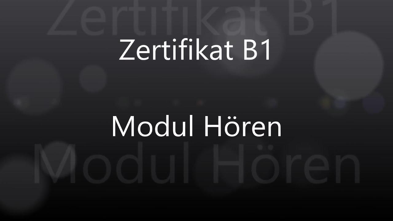 Goethe ösd Zertifikat B1 Modul Hören Teil 1 Mit Lösung Youtube