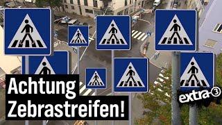 Realer Irrsinn: 32 Schilder an Zebrastreifen in München