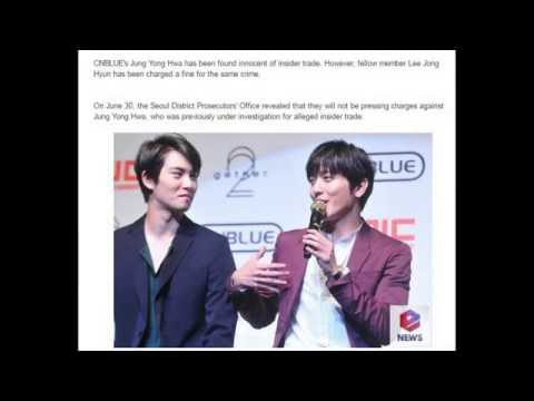 160709 CNBLUE's Jung Yong Hwa Found Innocent of Insider Trading While Lee Jong Hyun Charged Fines