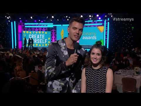AJ Gibson & Laura Marano Introduce The Village People - Streamys 2017