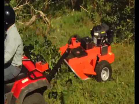 Pull Tow Behind Mower Brush Hog Project Part 2 Trail