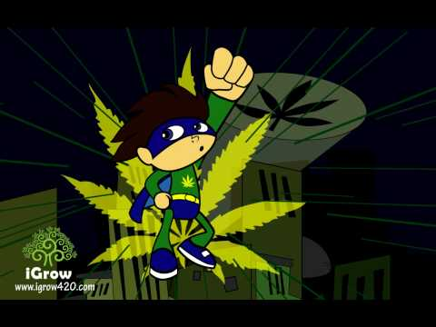 Marijuana Super Hero Cartoon - CannMann