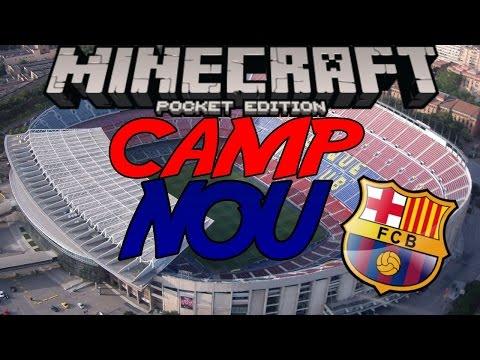 Minecraft PE [0.13.0] Camp Nou | F.C Barcelona Stadium