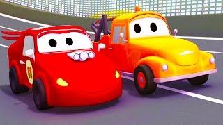 Odtahový vůz Tom a jeho přítel | Animák z prostředí staveniště s auty a nákladními vozy (pro děti)