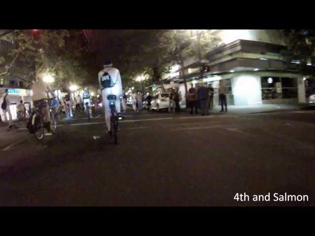 Portland Naked Bike Ride 2012