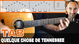 Quelque chose de Tennessee - Tablature guitare
