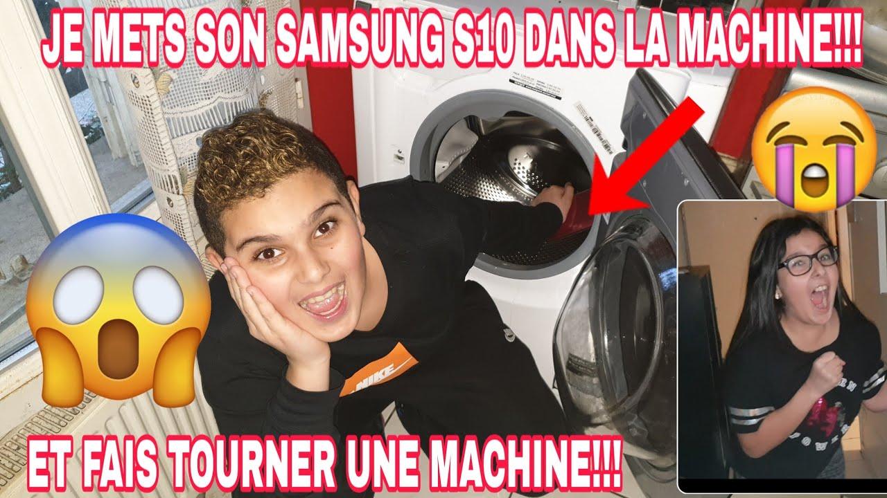 Cache Machine A Laver je cache son nouveau tÉlÉphone dans la machine a laver et fais tourner une  machine:elle pleure!!!