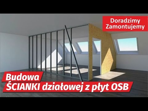 Niesamowite Poradnik MONTAŻ Ścianki Działowej z OSB PORADNIK Jak zrobić ścianę UW97