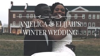 Anjelica and Elijah's Winter Wedding