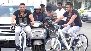 Salman Khan Cycling Openly On Mumbai Roads With...