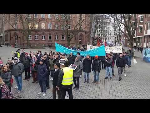Afghan Demonstration Hamburg 17.02.2018 تظاهرات مهاجرین افغان در هامبورگ