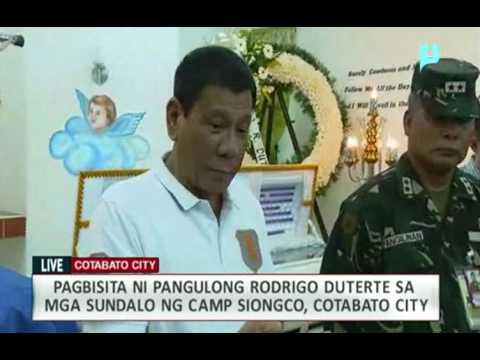 Pagbisita ni Pangulong Duterte sa 6th Infantry Division, PA, Camp Siongco Awang, Maguindanao