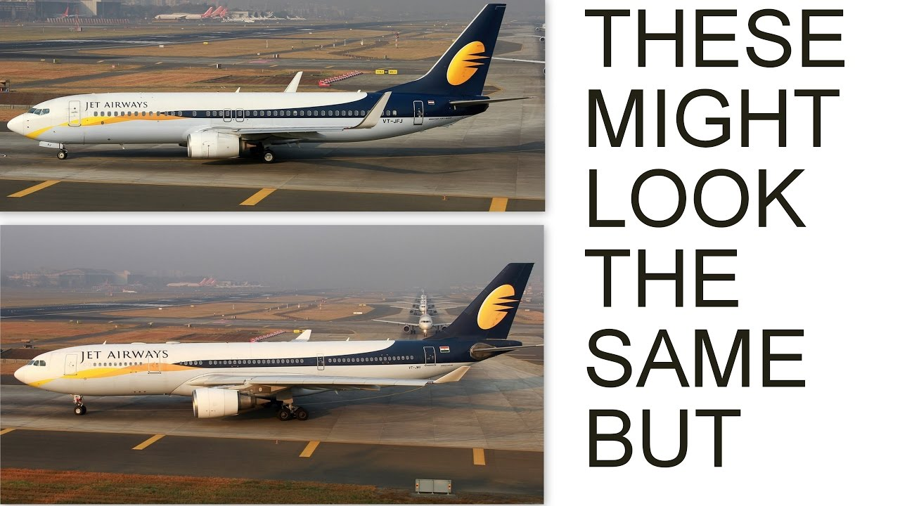 Boeing and Airbus: Find 10 Differences