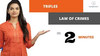 UPSC Law Optional 2020 & 2021 : Trifles under Law of Crimes in 2 Minutes