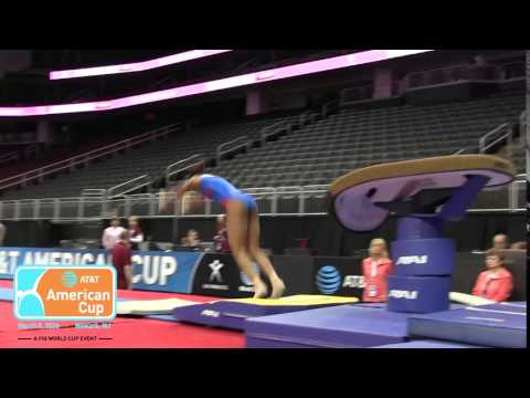 Gabby Douglas - Vault - 2016 AT&T American Cup - Podium Training