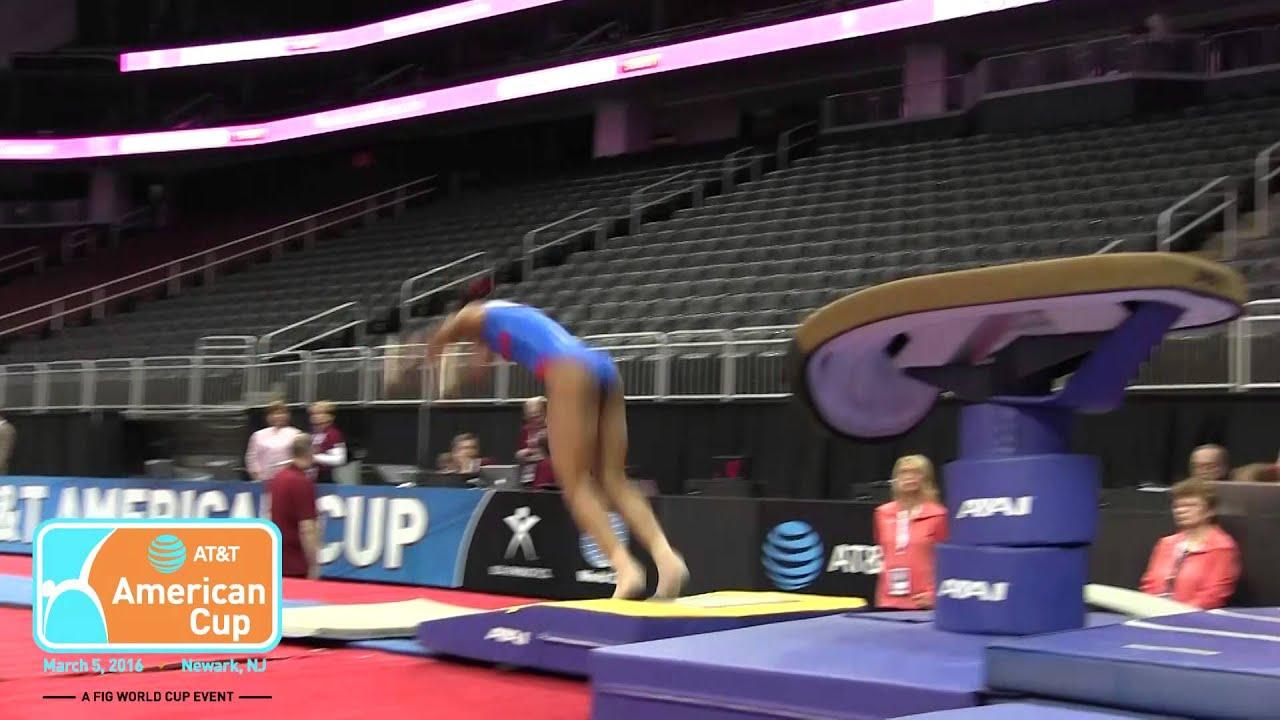 vault gymnastics gabby douglas. Gabby Douglas - Vault 2016 AT\u0026T American Cup Podium Training YouTube Gymnastics S