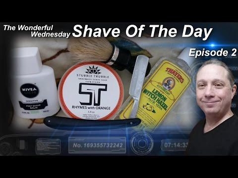 Magnetic Silver Straight Razor Shave, Shave Of The Day Stubble Trubble Wonderful Wednesday #SOTD Ep2
