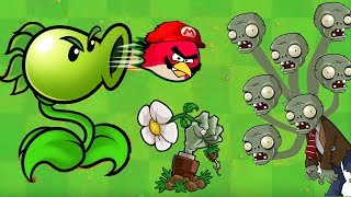 Angry Birds vs Zombies War - PEASHOOTER FIRE ANGRY BIRDS DEFEAT ZOMBIES