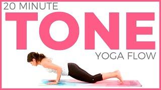 Power Yoga Workout 🔥(20 minute Yoga) TONE YOGA for Weight Loss & Strength    Sarah Beth Yoga