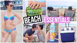 SUMMER BEACH DAY ESSENTIALS! Beauty, Food & More! thumbnail