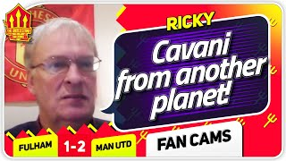 RICKY! CAVANI A LEVEL ABOVE! Fulham 1-2 Manchester United Fan Cam
